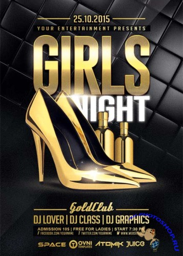 Girls Night V7 Flyer Template