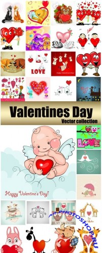 Stock Vectors - Valentine's Day Romantic Backgrounds, Hearts #32, 29xEPS