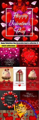 Happy Valentines Day decorative hearts collection 15