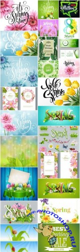 Spring Design Elements - 25 Vector