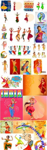 Indian Dancer - 30 Vector