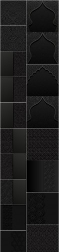 Beautiful arab and islamic black ornaments - 18xEPS