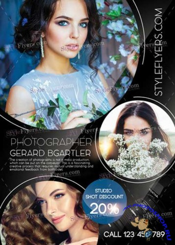 Photographer V17 PSD Flyer Template