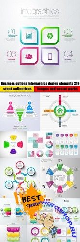 Business options Infographics design elements 219