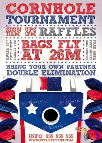 Cornhole Tournament V3 PSD Flyer Template
