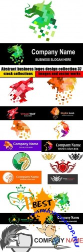 Abstract business logos design collection 37