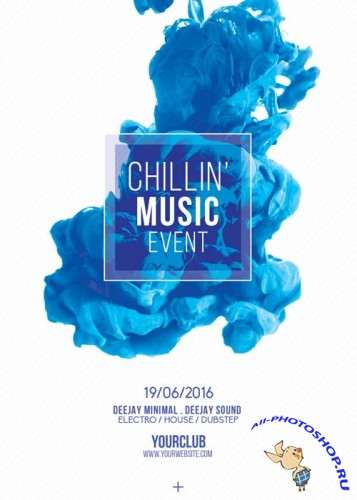 Chillin Music Event V10 Flyer Template