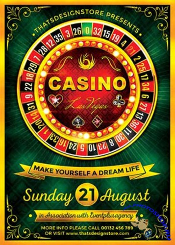 Casino V22 Flyer Template