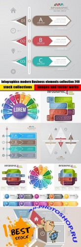 Infographics modern Business elements collection 249
