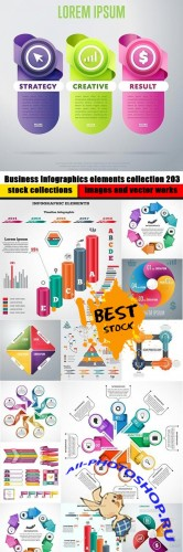 Business Infographics elements collection 203