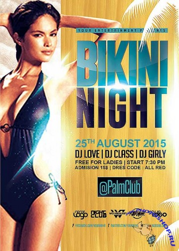 Bikini Night V21 Flyer Template