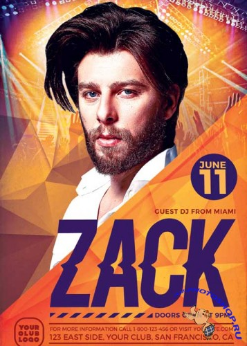 DJ Zack Party V9 Flyer Template