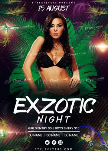 Exzotic Night V20 PSD Flyer