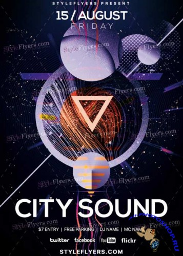 City Sound V18 PSD Flyer Template