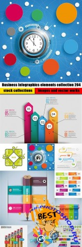 Business Infographics elements collection 204