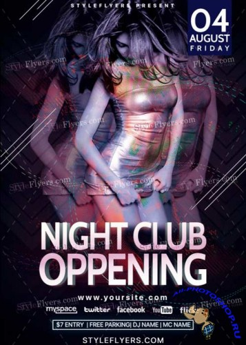 Night Club Oppening  V14 PSD Flyer Template