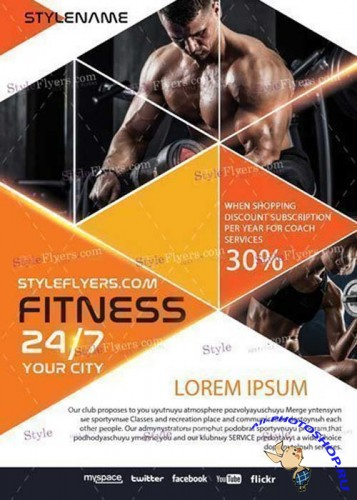 Fitness V27 PSD Flyer Template