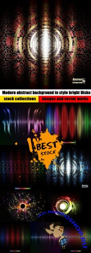 Modern abstract background in style bright Disko