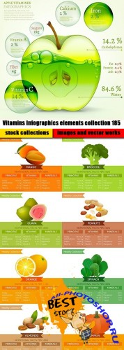 Vitamins Infographics elements collection 185