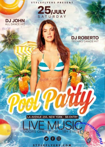 Pool Party V27 PSD Flyer Template