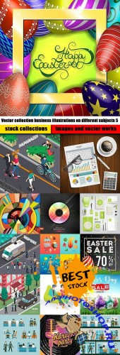 Vector collection business illustrations on different subjects 5