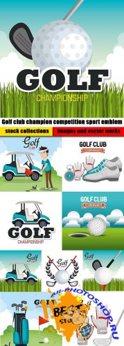Golf club champion competition sport emblem