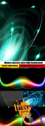Modern abstract wave light background