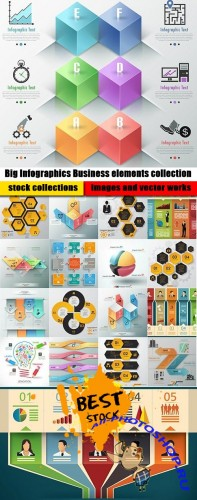 Big Infographics Business elements collection