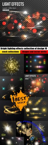 Bright lighting effects collection of design 10