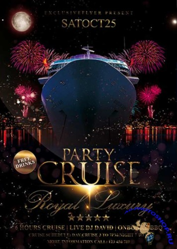 Cruise Party Vol.32 Premium Flyer Template + Facebook Cover