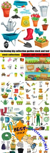 Gardening big collection garden stock and tool