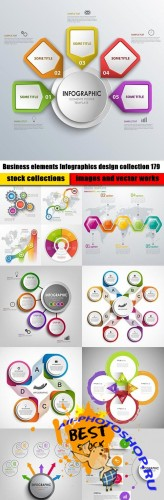 Business elements Infographics design collection 179