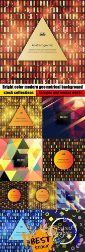 Bright color modern geometrical background