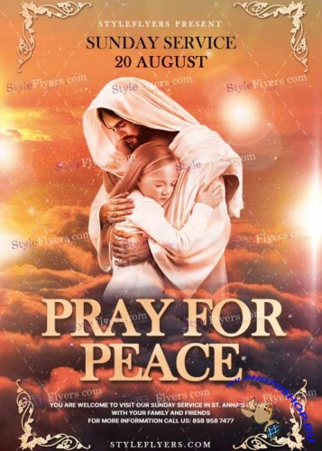 Pray For Peace V25 PSD Flyer Template
