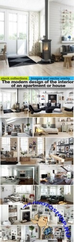 The modern design of the interior of an apartment or house, 15 x UHQ JPEG