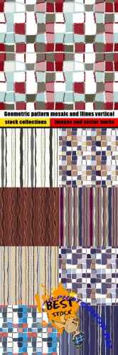 Geometric pattern mosaic and llines vertical