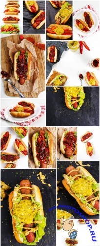 Tasty Hot Dog - Fast Food, 15xUHQ JPEG Photo Stock