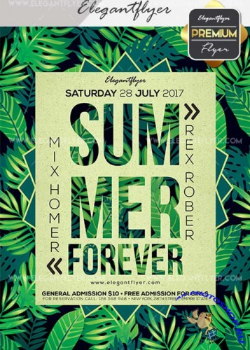 Summer Forever V25 Flyer PSD Template + Facebook Cover
