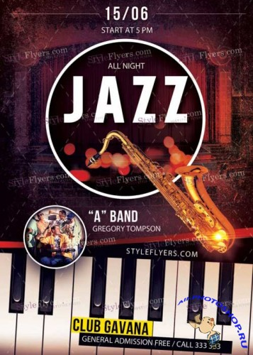 Jazz PSD V33 Premium Flyer Template