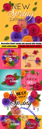 Decorative flower spring sale special offer design