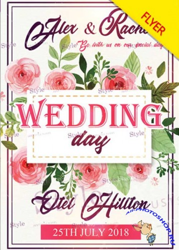 Wedding Day V40 Flyer PSD