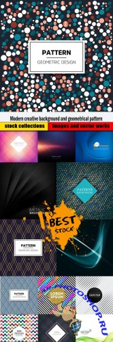 Modern creative background and geometrical pattern