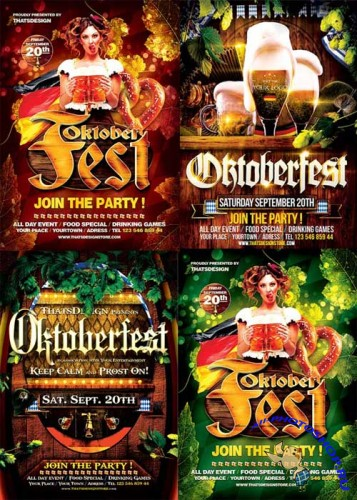 Oktoberfest Party 3in1 V2 Flyer Template