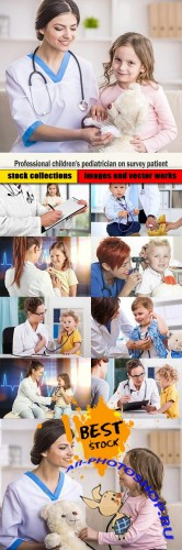 Professional children's pediatrician on survey patient