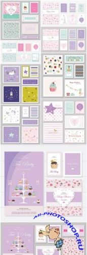 Cute Card Template - 10 Vector