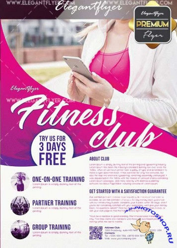 Fitness V48 Flyer PSD Template + Facebook Cover