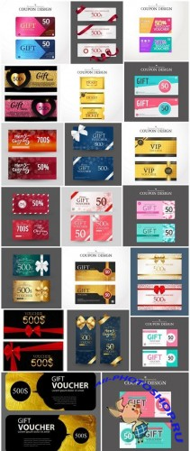 Gift Voucher Collection #25 - 22 Vector