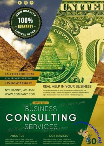 Consulting V18 PSD Flyer Template