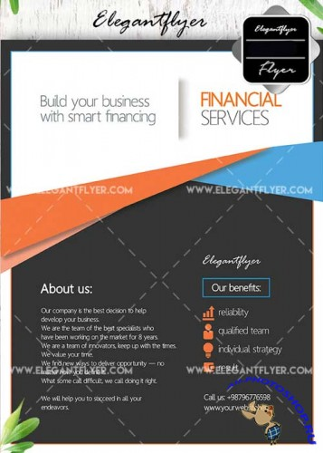 Financial Services V20 Flyer template