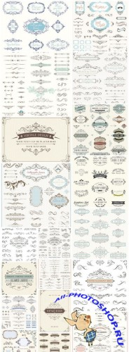 Vintage Calligraphy Elements